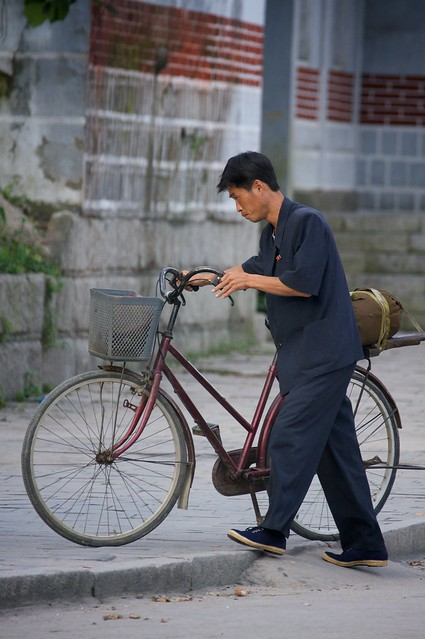 On the Street in Kaesong, North Korea