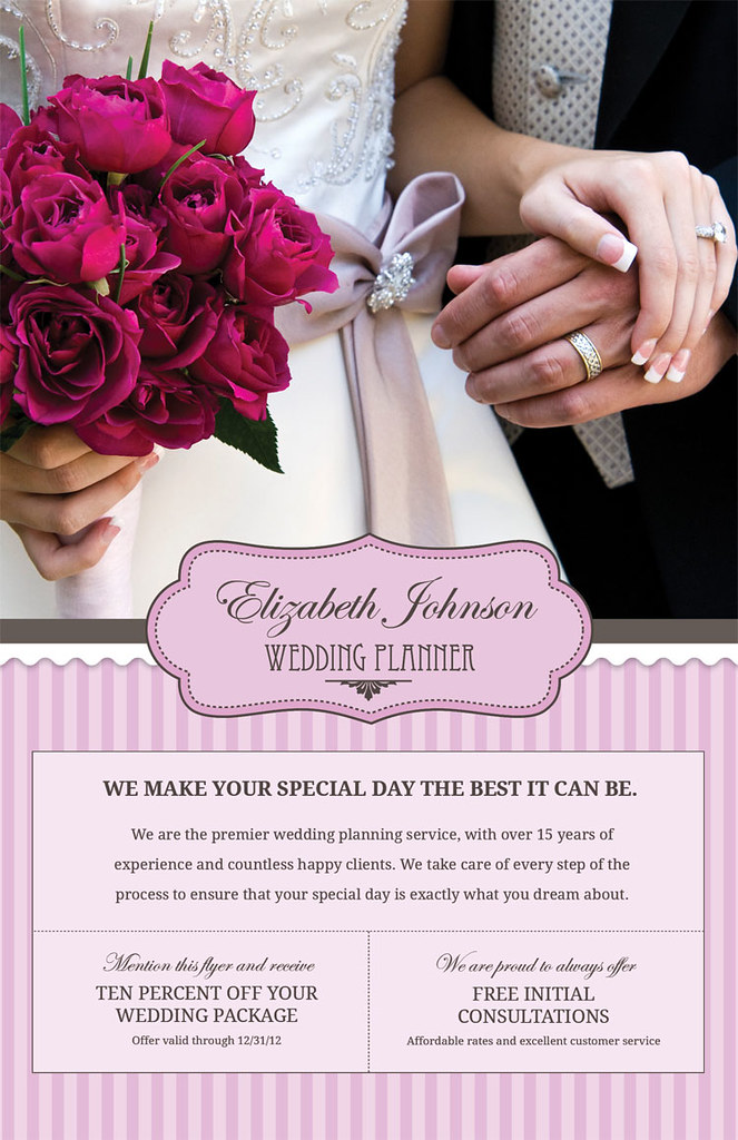 Wedding Planner Flyer Front Flickr Photo Sharing