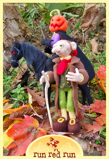 Needle Felted Sleepy Hollow Art Dolls
