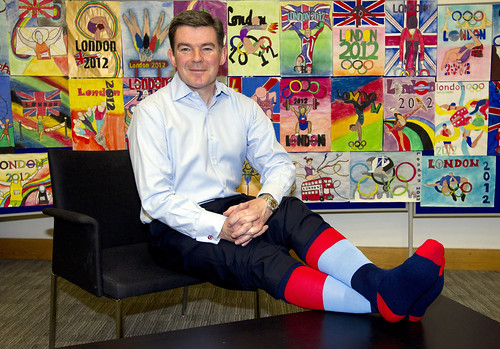Hugh Robertson 'shows his socks' in aid of Help for Heroes