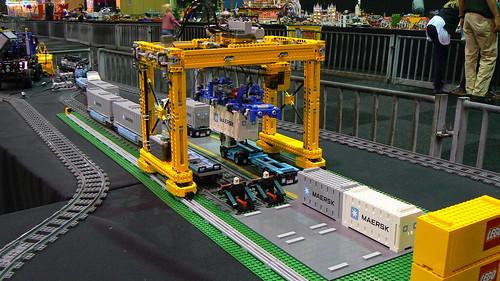 Container Crane 01 Minifig Scale Technic Container Crane