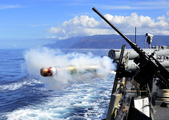 In this file photo from a previous Koa Kai exericse, USS O'Kane (DDG 77) launches an exercise torpedo. (U.S. Navy photograph by Mass Communication Specialist 2nd Class Daniel Barker)