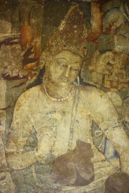 Ajanta, cave 1, Bodhisattva Padmapani