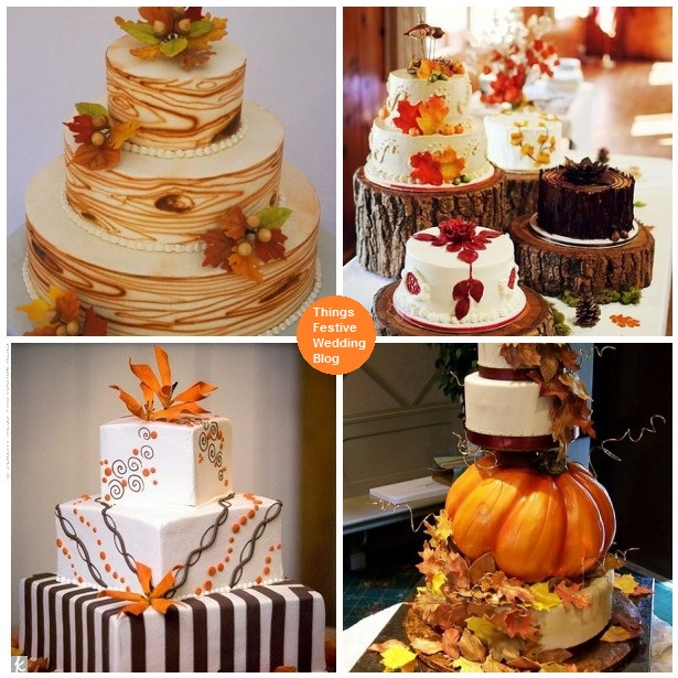 Fall wedding cakes things festive weddings events for Fall cake ideas