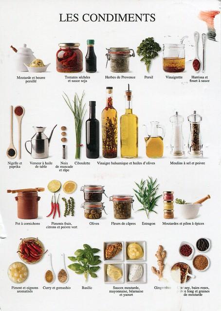 ANI. Les condiments