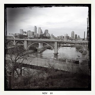 Downtown Minneapolis as seen from the Education Sciences Building, U of M