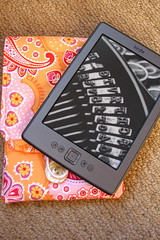 kindle on top of cover