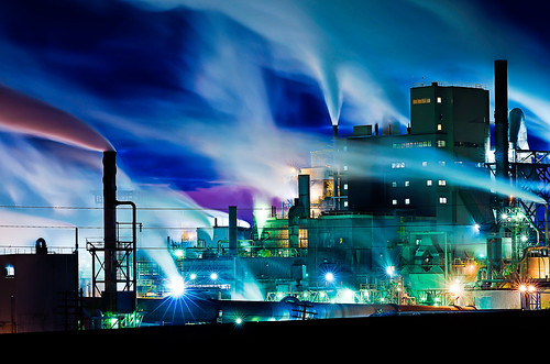 Paper mill at night near Wallula, WA November 19, 2011 by Scott Butner.