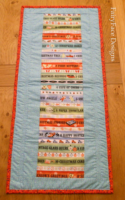 Christmas table runner back