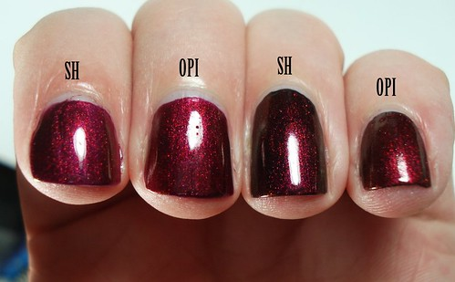 Ruby Emerald vs OPI La Boheme
