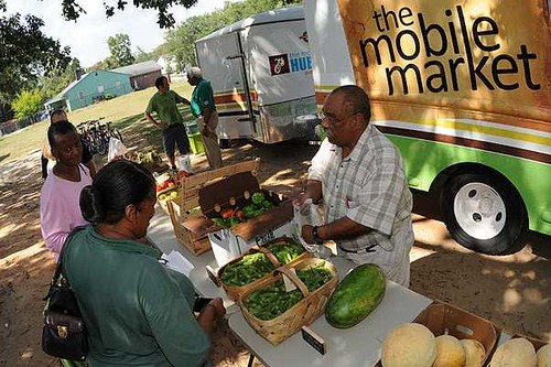 The mobile market delivering fresh produce residents of Spartanburg County, South Carolina.