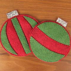 Iron Craft Challenge #47 - Christmas Ornament Coasters