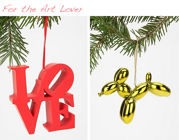 art lover christmas ornaments