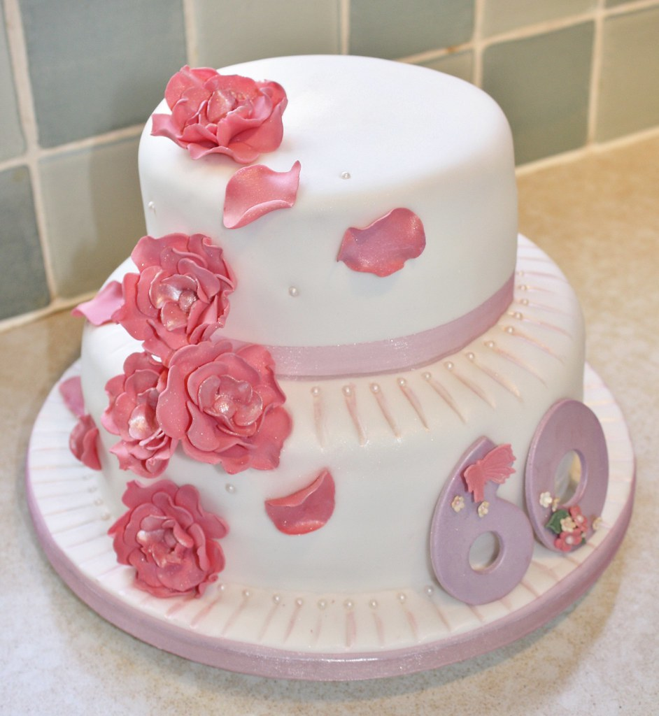 By Fiona Hirons 2 Tier 60th Birthday