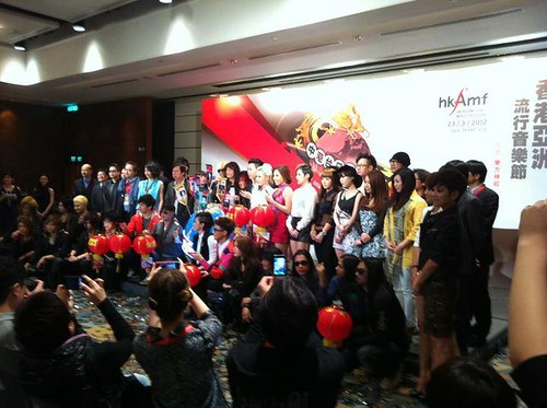 Press conference for HK Asian-Pop Music Festival 2012