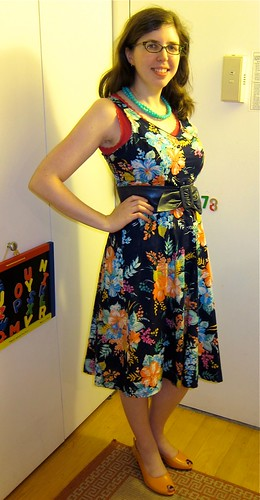Dashabout vintage floral dress work outfit