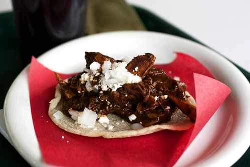 chicken mole taco @ loteria