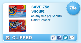 Shout Color Catcher Coupon