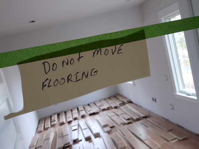 do not move flooring sign