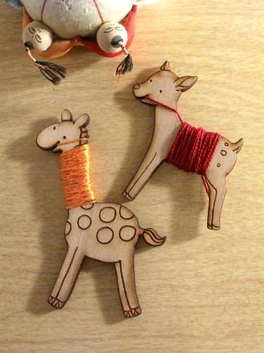 Flossy Bobbins - deer and giraffe.