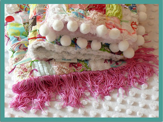 Vintage Chenille Patchework Baby/Doll Quilt