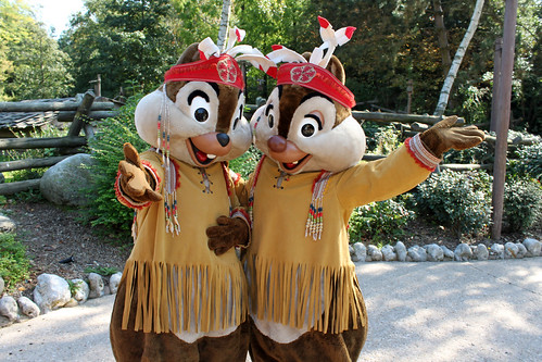 Meeting Native American Chip and Dale