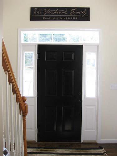 pewter+sage: Foyer Update: Black Front Door