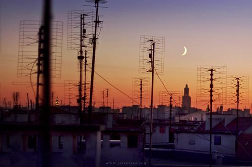 roof sunset moon dach wroclaw księżyc wrocław zachódsłońca apsik joannajaskólska jaskolskacom