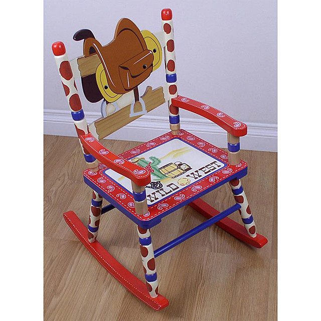 Kids 39 cowboy rocking chair flickr photo sharing for Kids chairs for boys