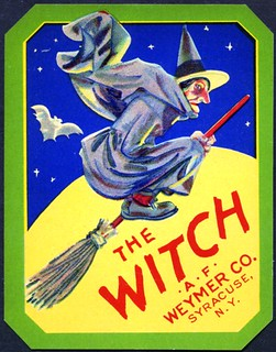 1930's Vintage Halloween Broom Ad