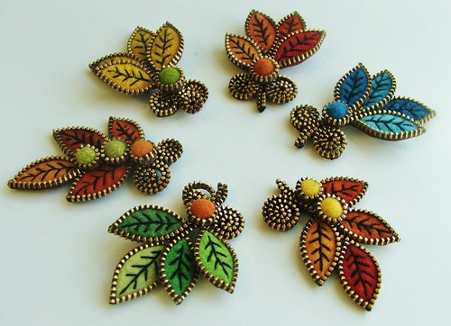 New leaf brooches...