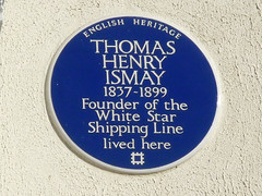 Photo of Thomas Henry Ismay blue plaque