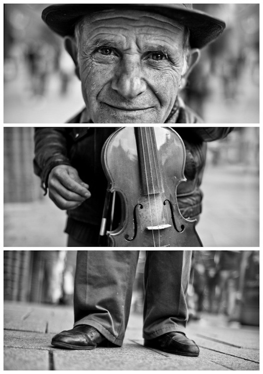 Triptychs of Strangers #26, The Fingercounting Violonist - Hamburg
