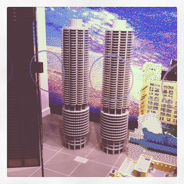 Bertrand Goldberg Marina City made out of legos