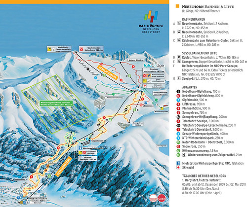 Oberstdorf - Nebelhorn - mapa sjezdovek