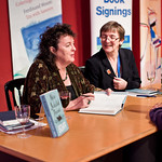 Carol Ann Duffy | Poet Laureate Carol Ann Duffy signs books for a poetry fan