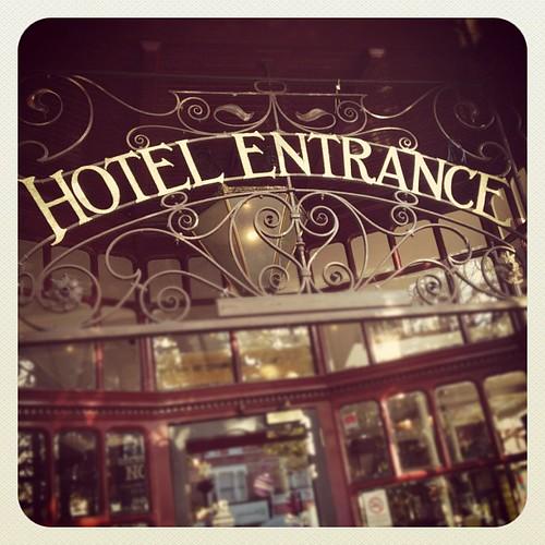 HOTEL ENTRANCE #london #wanstead #victorian #vintage #typography