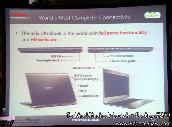 Toshiba Ultrabook - Portege Z830-2