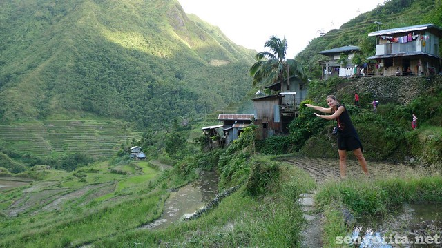 Slovak blogger spotted in Batad Village!