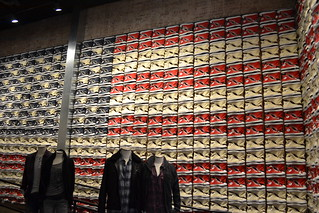 American Flag With the All Star Converse
