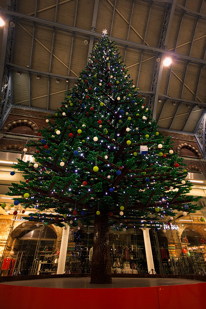 Lego Christmas Tree, St Pancras, London