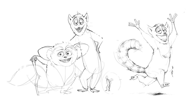 King Julien Sketch