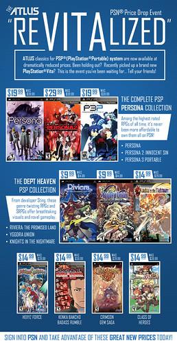 Atlus PSN PSP price drop