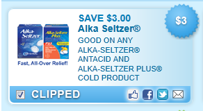 Alka-seltzer Antacid And Alka-seltzer Coupon