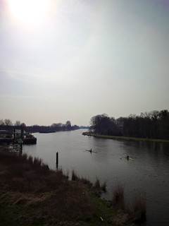 Image of Rozenoord. sun holland netherlands amsterdam river outdoors march spring nederland sunny rowing skiff lente zon roeien buiten amstel 2012 maart ouderkerkerdijk rivier voorjaar amsteldijk zonnig singlescull provincienoordholland northhollandprovince