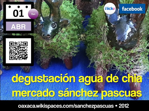 Free Poster: Join us next Sunday at the Sanchez Pascuas Market for Chia Tasting!