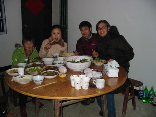 Eating dinner at my in-laws home with my Chinese family