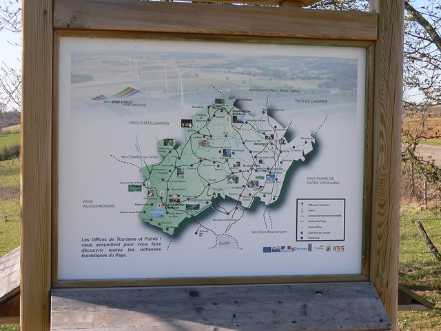 Map of area surrounding Saint Seine Abbaye