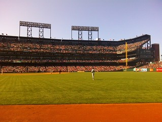 The Outfield at a San Francisco Giants Game