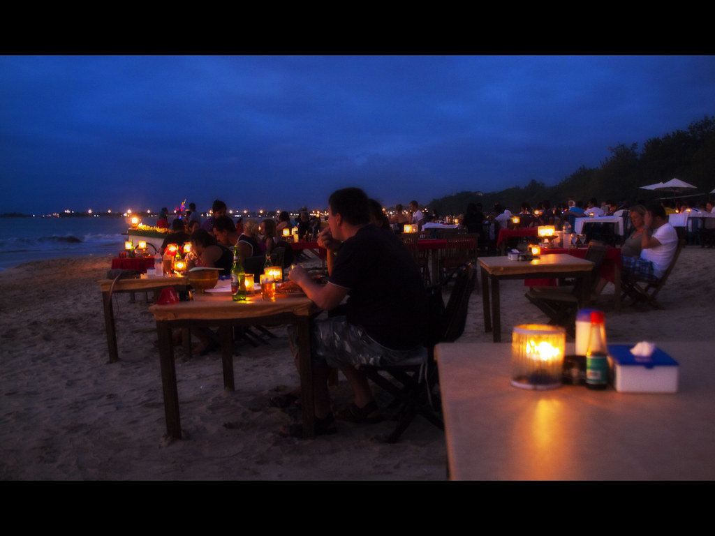 Sunset Dinner at Jimbaran Beach, Bali